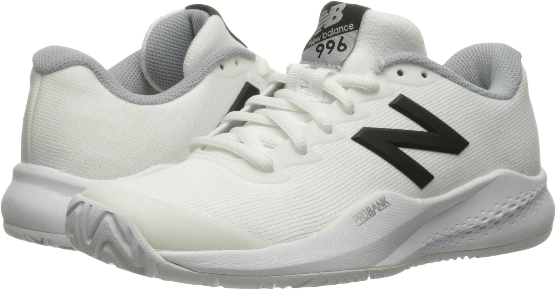 New Balance Women's 996v3 Tennis-Shoes,White/Black5.5 B US