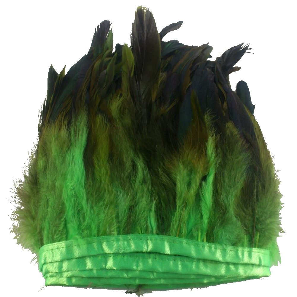 Colorful Sowder Rooster Hackle Feather Fringe Trim 5-7 in Width Pack of 5 Yards
