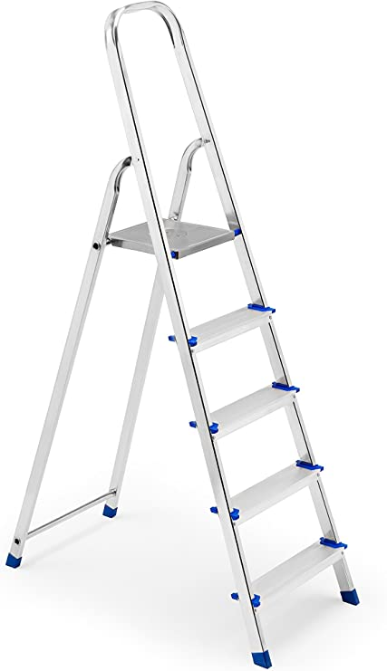 FRAMAR Europiuma 5 Escalera doméstica de Aluminio, 5 Peldaños: Amazon.es: Hogar