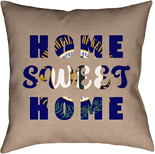ArtVerse Katelyn Smith 16 x 16 Spun Polyester Double Sided Print with Concealed Zipper /& Insert Kentucky Love Watercolor Pillow