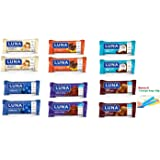 Luna Bar 6 Flavors Variety Pack (Pack of 12)