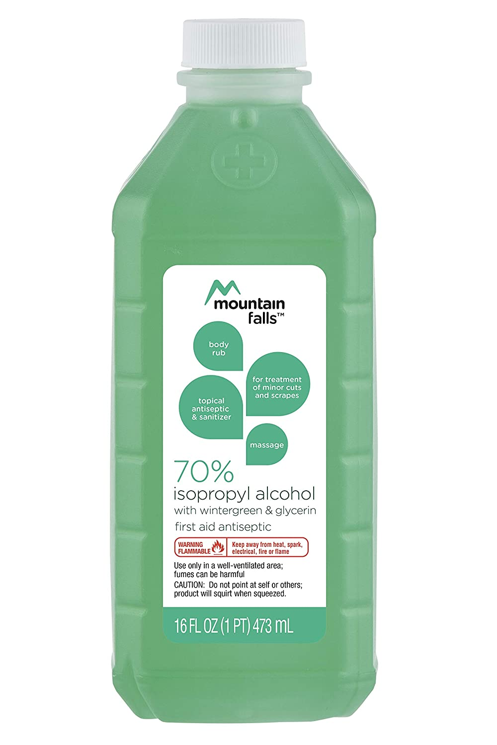 Mountain Falls 70% Isopropyl Alcohol First Aid Antiseptic for Treatment of  Minor Cuts and Scrapes, with