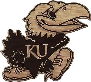 Open Road Brands University of Kansas Jayhawks Logo Wood Wall Decor
