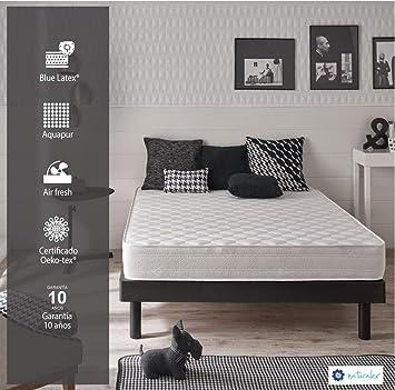 Colchón Thermoflex 140 x 190 cm de espuma Blue latex®, 7 zonas confort, 20 cm FIRME: Amazon.es: Hogar