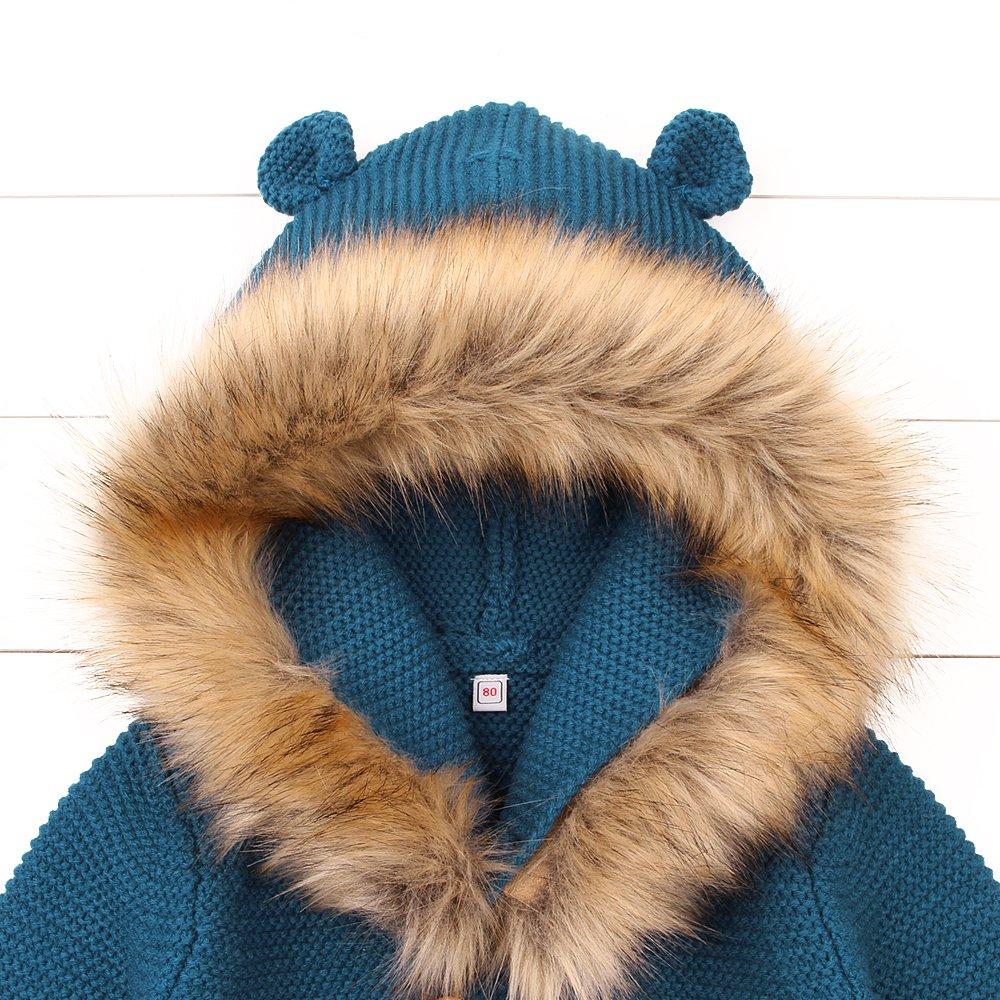 MiMiXiong Cárdigan Suéter de Punto para Bebés Chaquetas y Abrigos Ropa de  Tejer 82W271 02adfd9cf29a
