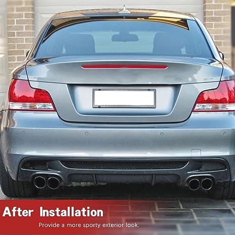Amazon.com: jcsportline fits BMW 1 Series 120i 125i 128i 135i E82 M-Sport Coupe 2 Door 2007-2013 Carbon Fiber Rear Bumper Lip Diffuser: Automotive