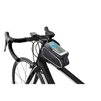 Waterproof Cycling Bike Frame Bag Phone Holder MTB Mount Crossbar Storage Case