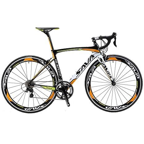 SAVA 700C Bicicleta de Carretera de Fibra de Carbono SHIMANO 4700 20-Velocidad Sistema (