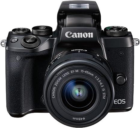 Canon EOS M5 - Kit de Cámara Evil de 24.2 MP con Objetivo EF-M 15-45