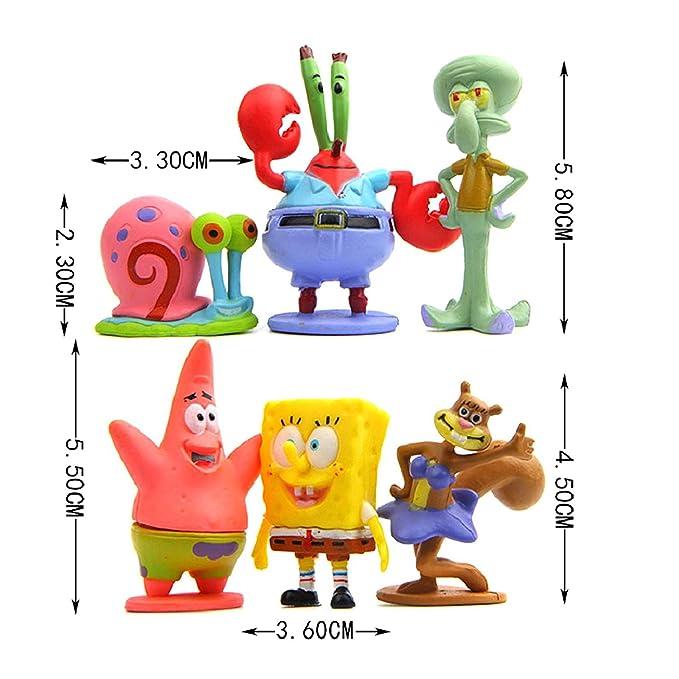 Colección de 6 personajes Bob Esponja Calamardo Patricio ...