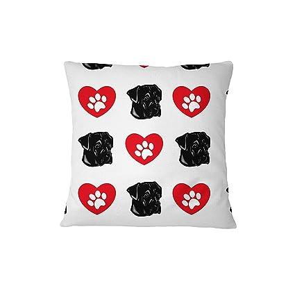 Cane Corso perro corazón patas sofá cama decoración del hogar funda de almohada almohada y cubierta