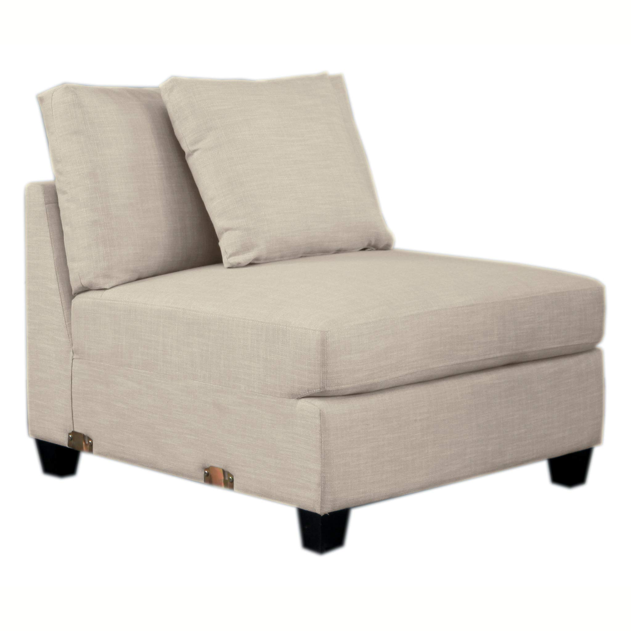 Homelegance Southgate Modular Sectional Unit, Armless Chair, Beige by Homelegance