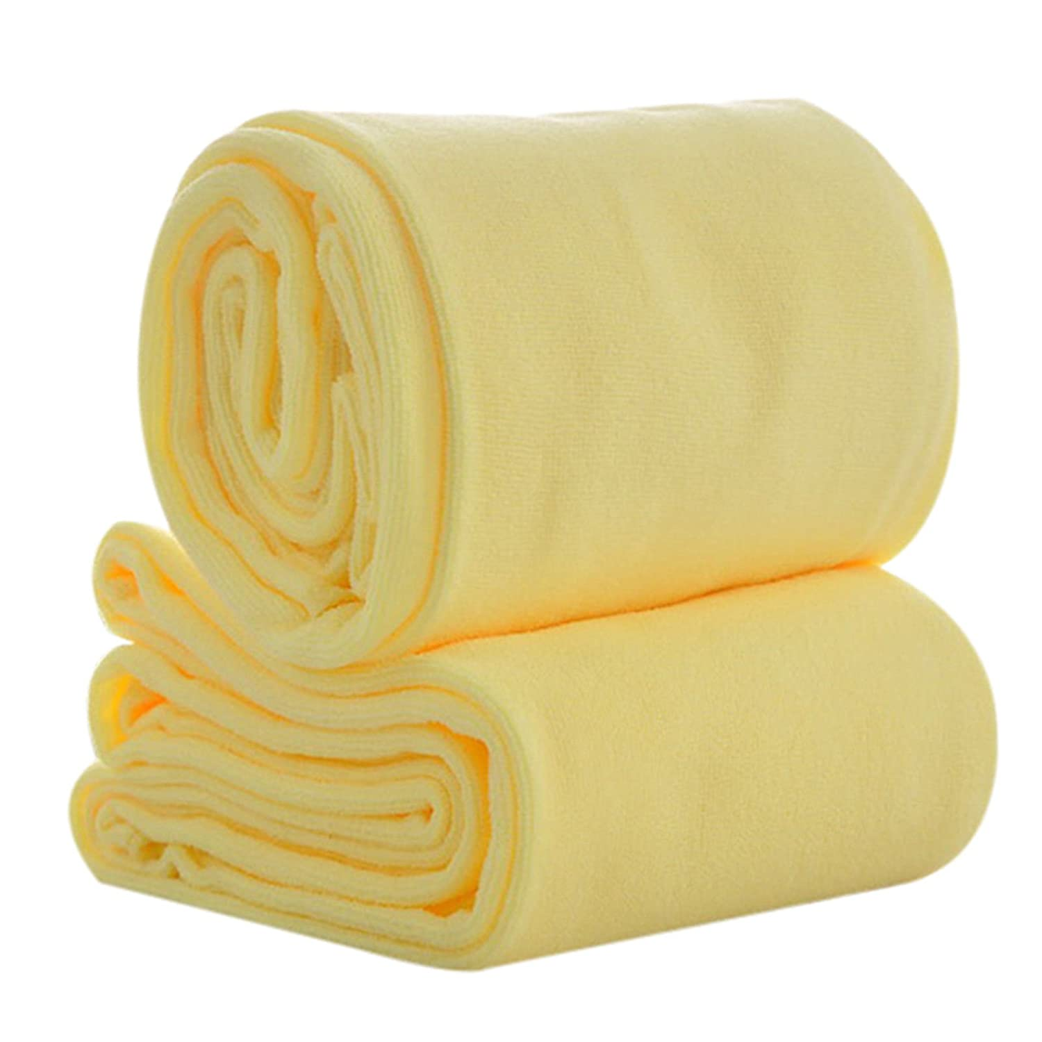 Amazon.com: Fast Dry Towel Absorbent Microfiber Beach Bath Washcloth Shower Toallas de Baño (Yellow): Home & Kitchen