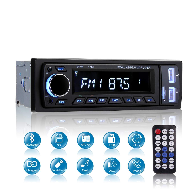 Bluetooth//Telecomando Mekuula autoradio 4x60W Bluetooth Ricevitore Car Radio Station Car Stereo Car Player Supporta FM//USB Autoradio Bluetooth Stereo Micro SD// AUX