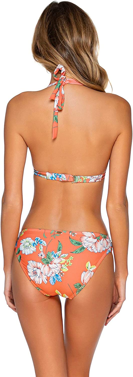 Sunsets Womens Femme Fatal Shirred Side Bikini Bottom Swimsuit