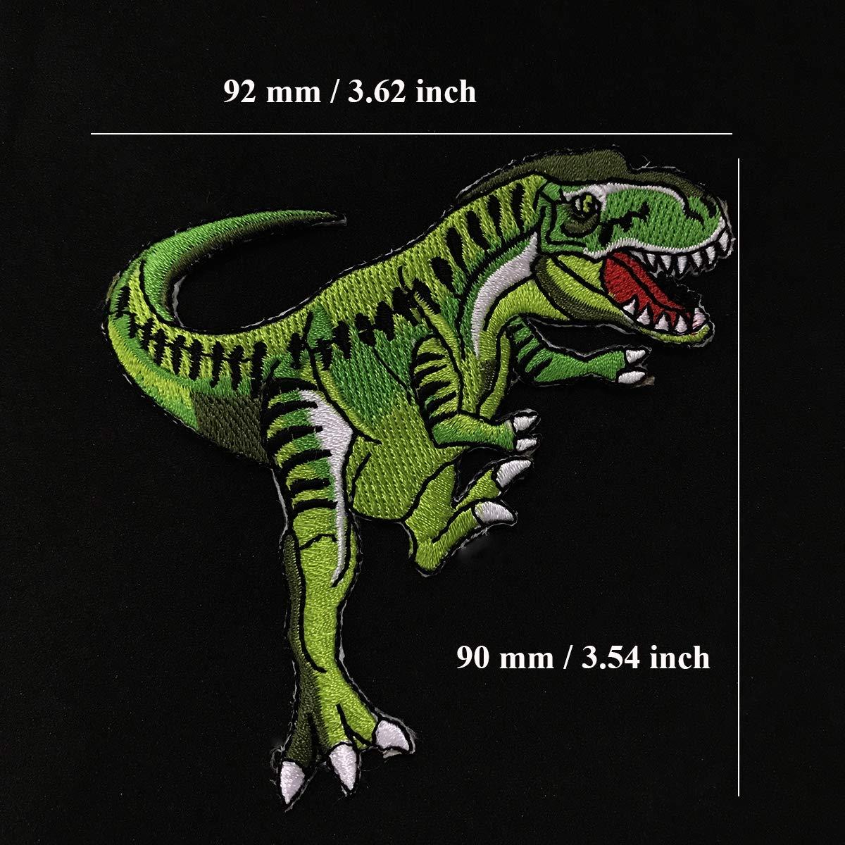 Ni/ños Ni/ños Juland 6 PCS Parches de dinosaurio bordados Autoadhesivo Mochilas personalizadas bordadas para Hombres Mujeres Ni/ñas