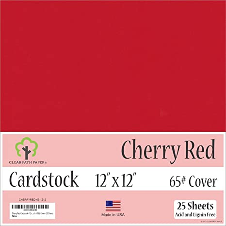 65Lb Cover 12 x 12 inch Black Cardstock 50 Sheets