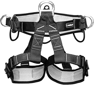 Baoblaze Fall Protection Safety Harness Seat Belt for Rock Tree Climbing Rappelling Roofing Fire Secure