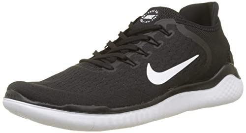 best loved 40dca bac9c NIKE Free RN 2018 Black White Running Shoes  Buy Online at Low Prices in  India - Amazon.in