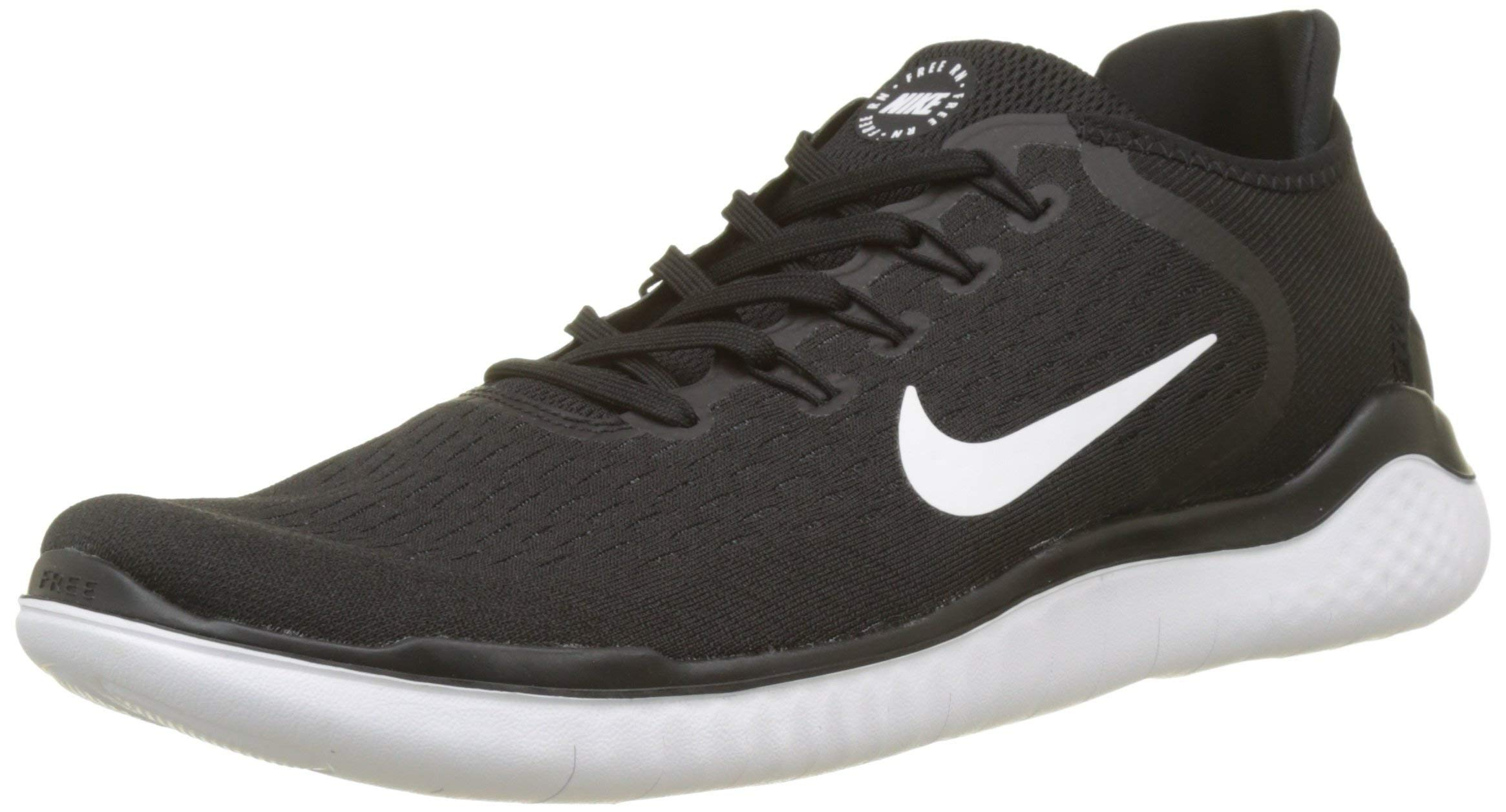 acab6aaca0e0 Galleon - Nike Men s Free RN 2018 Nylon Running Shoes 11 Black White