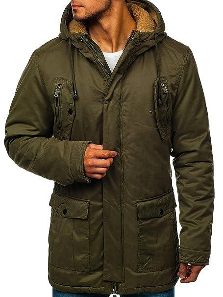 BOLF Hombre Chaqueta de Invierno Parka Extreme 1794 Verde L ...