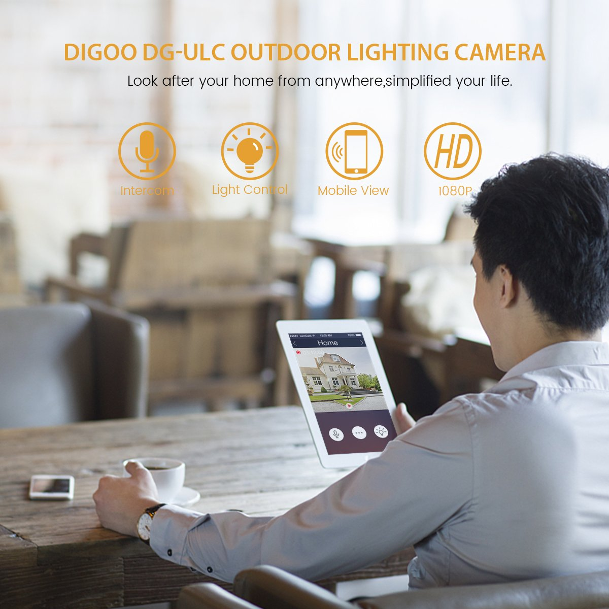 Digoo Floodlight Outdoor Camera H265 1080p Hd Wifi Ip Wiring Lights Australia Video Security With Light Holder Diy Your Homefront Waterproof