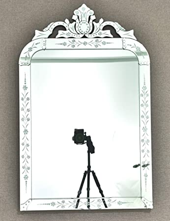 KOHROS Wall Mounted Squared Mirror, Venetian Mirror Decor for The Living Room, Bathroom, Bedroom W 25 X H 39.5 Rectangle