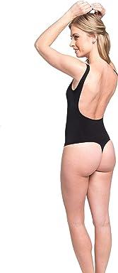 Magic BodyFashion Womens Comfort Shaping Low-Back Bodysuit