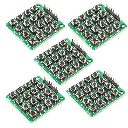 a43b959ad41 C.J. SJOP 5PCS 4x4 Matrix 16 Keypad Keyboard Module 16 Button Mcu for  Arduino