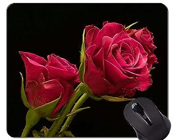 Yanteng Cojín de ratón del rectángulo, Flor Rosada de la ...