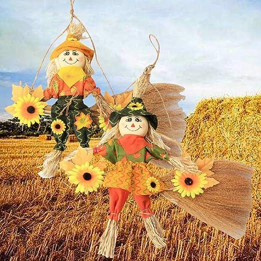 vocheer espantapájaros de Halloween decoración de pie espantapájaros decoración para Feliz Halloween Decoraciones de Acción de Gracias decoración de Navidad para el hogar, Puerta Frontal, Pumpkin: Amazon.es: Jardín
