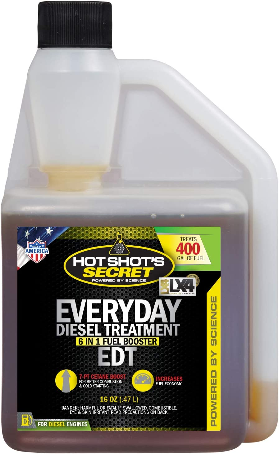 Amazon Com Hot Shot S Secret Everyday Diesel Treatment 16 Ounce Squeeze Bottle Hssedt16zs Automotive