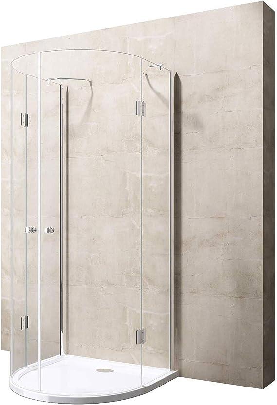 100 X 100 X 196 cm Diseño Mampara de ducha ravenna03 K, con ducha Taza faro4ar (ASIN: b00lw0uzp2), de cristal de seguridad templado de 8 mm de cristal transparente, con nano-revestimiento: Amazon.es: