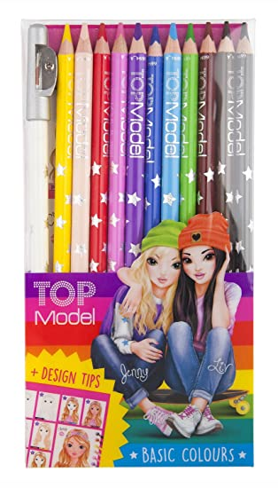 Top Model 006694 - Estuche con 12 lápices de colores: Amazon ...