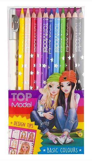 Top Model 006694 - Estuche con 12 lápices de colores: Amazon ...