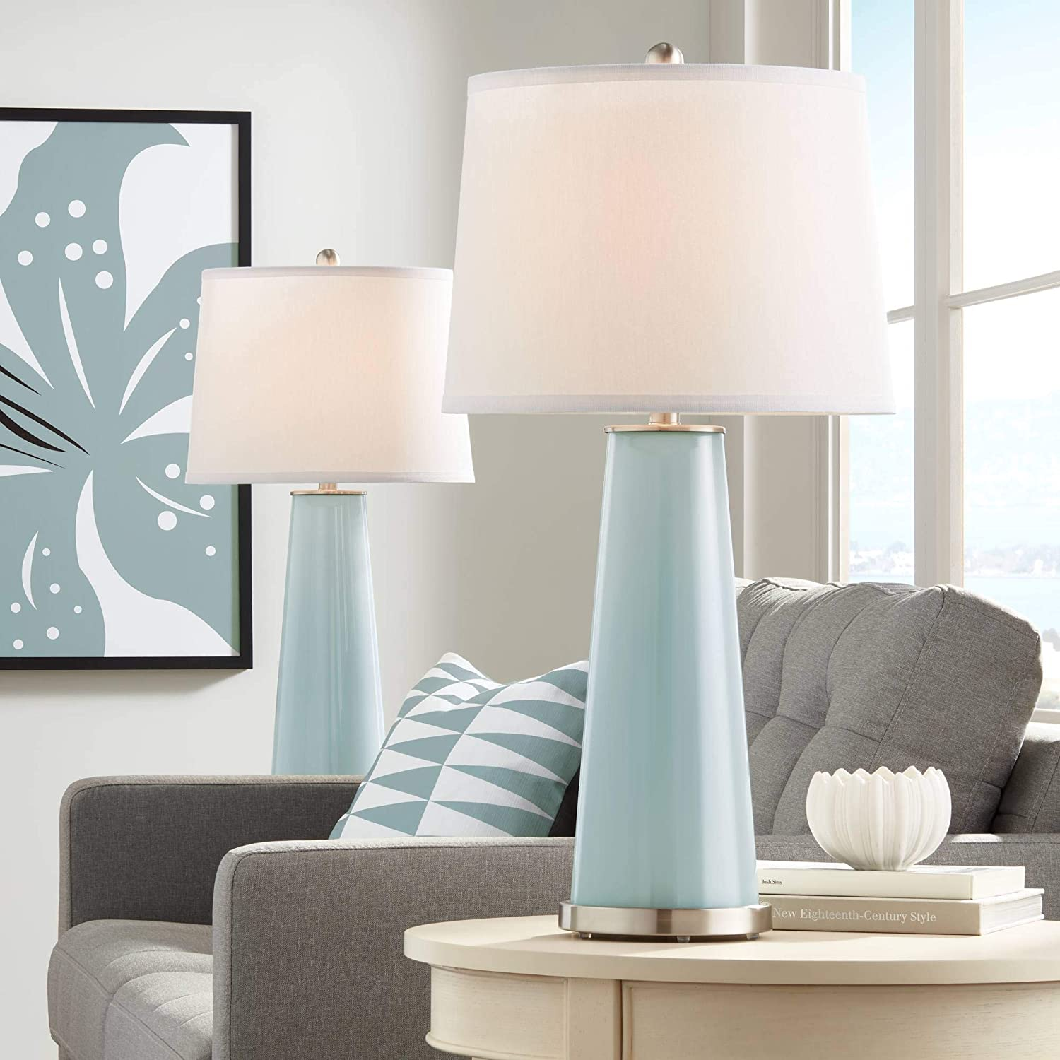 5 wide at the top and 7 tall Marble pattern Colorful swirl lamp shade Shade is 9.5 wide at the bottom