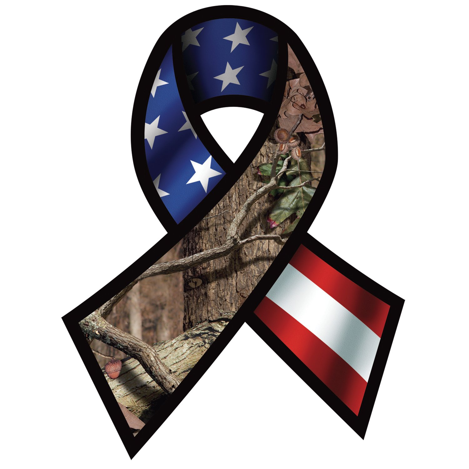 Mossy Oak Graphics 13071 Support Our Troops Ribbon Decal