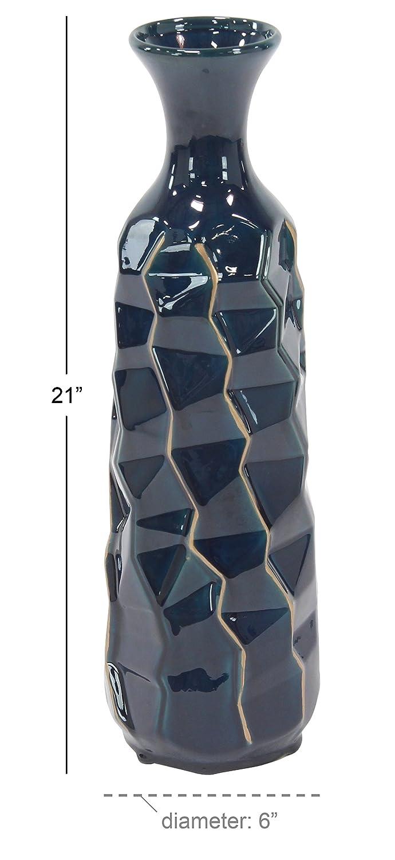 Deco 79 59960 Ceramic Vase Blue