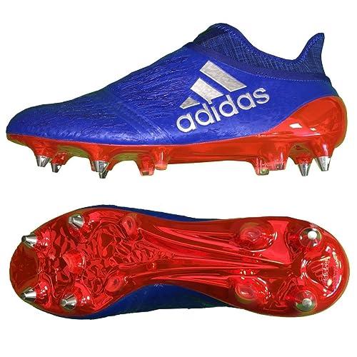 adidas X 16 + Purechaos Soft Ground - Botas de Fútbol - Azul, Color Azul, Talla 7 UK: Amazon.es: Zapatos y complementos