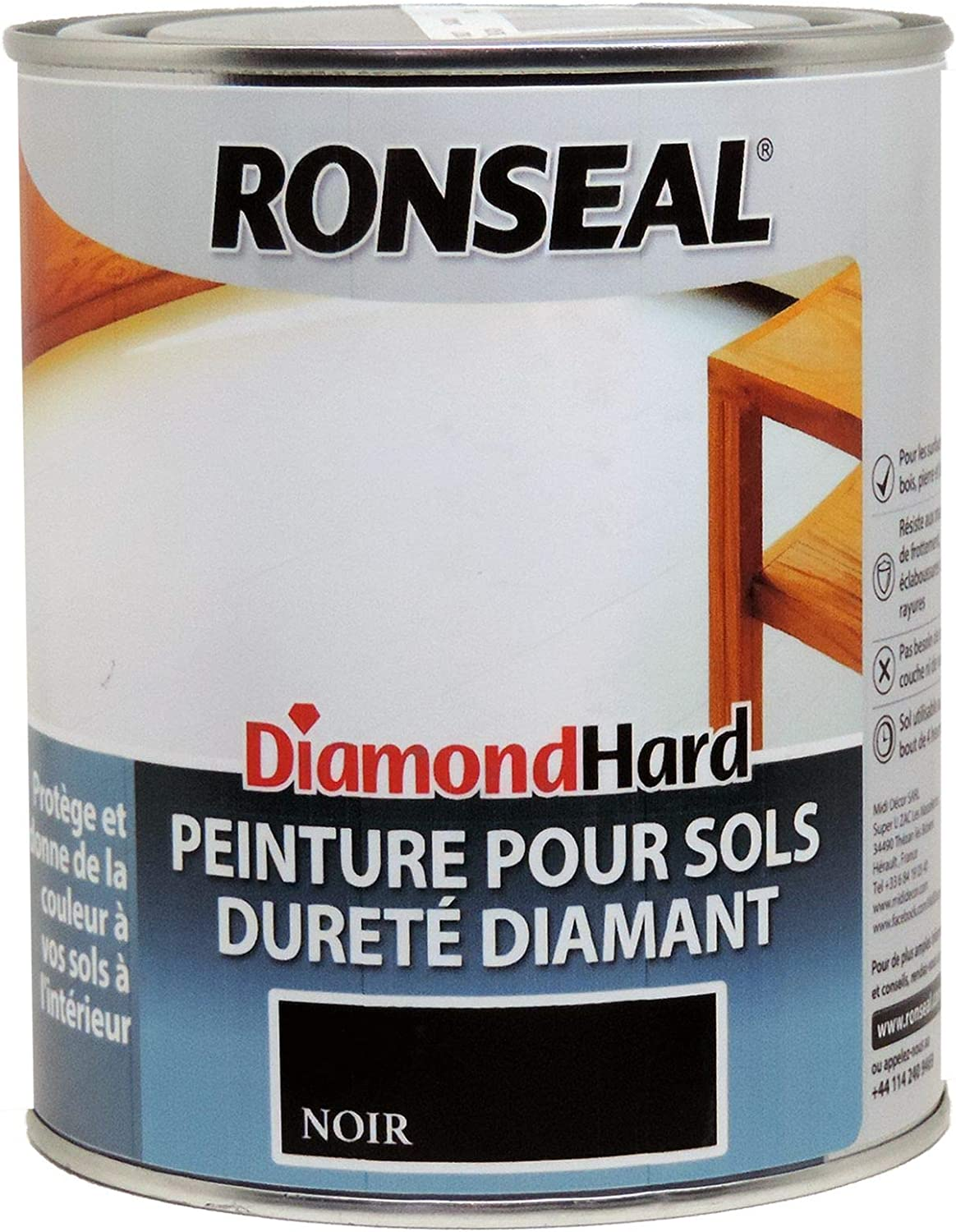 Ronseal 36628 Diamond Hard Flooring Paint Black Amazon Co Uk