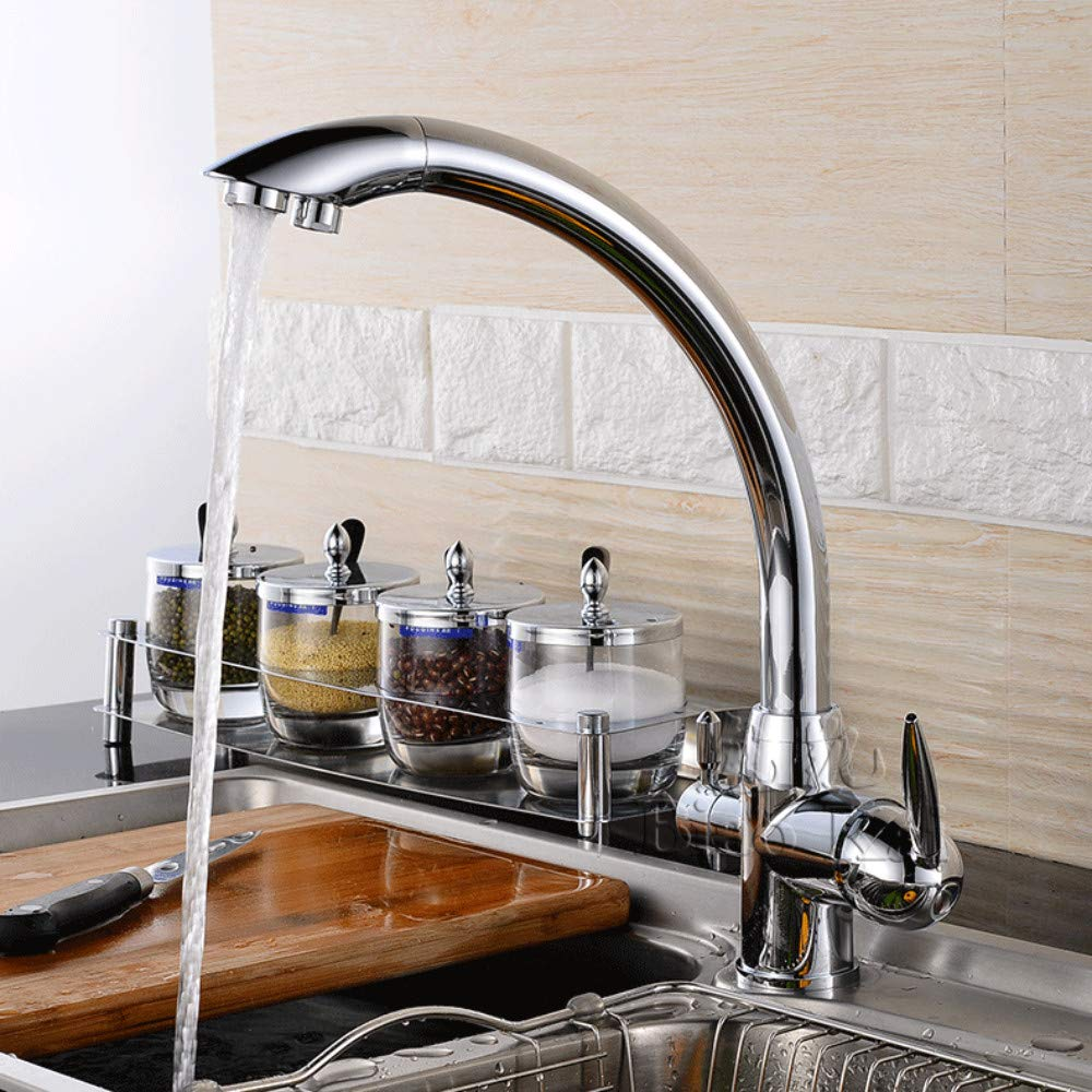 Creative hot and Cold Kitchen Water Purifier Faucet Sink Faucet redating Double Water