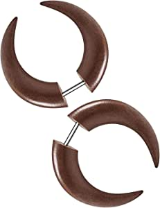 KJM Fashion 2PCS Acrylic Fake Gauge Ear Plug Cheater Lobe with 316L Steel bar Earring Piercing Jewelry More Theme