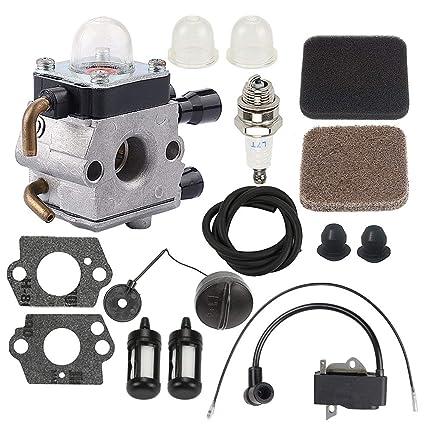 Amazon.com: ATVATP FS75 Carburador para cortador de cuerdas ...