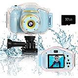 Agoigo Kids Waterproof Camera Toys for 3-12 Year Old Boys Girls Christmas Birthday Gifts Kids Underwater Sports Camera HD Chi