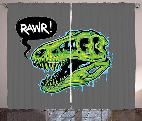 Lunarable Dinosaur Curtains