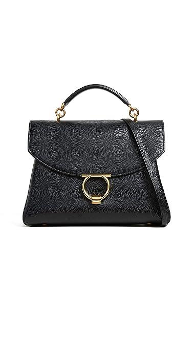 Amazon.com  Salvatore Ferragamo Women s Gancino Vela Soft Margot Medium Bag 197f6b760eb70