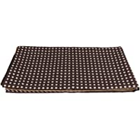 MagiDeal High Chair Antiskid Floor Mat Protector Baby Toy Pad 110 X110cm - Coffee Stars, as described