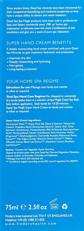 Dead Sea Spa Magik Organic Super Hand Cream 75ml