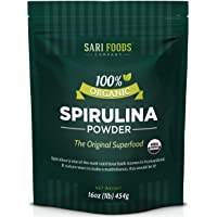  Organic Spirulina Powder (16oz): 100% Natural Source of Protein, Calcium, Vitamin B12, Iron, Magnesium, Selenium, Chlorophyll and Other Plant Nutrients    Nature's Daily Whole Food Multivitamin 