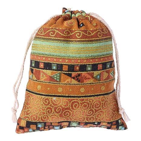 hgfcdd - Bolsas de Lino y algodón con cordón para Guardar ...